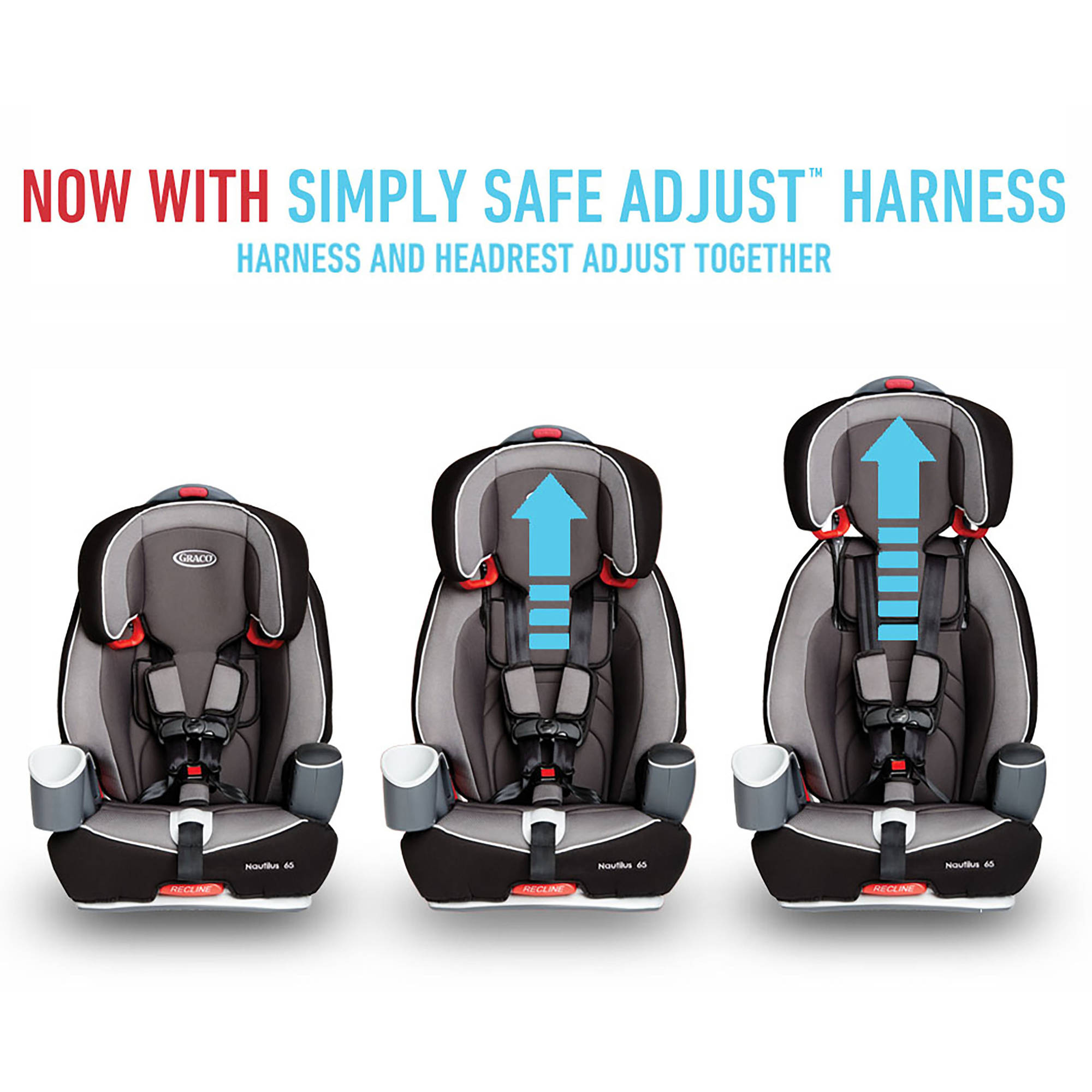 Graco Nautilus 65 3-in-1 Multi-Use Harness Booster Car Seat, Choose ...