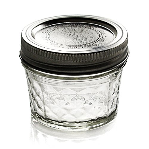Ball Jar Crystal Jelly Jars with Lids and Bands, Quilted ...