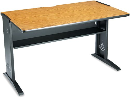 Safco Products 48 Quot Wide Reversible Top Computer Desk Mahoga