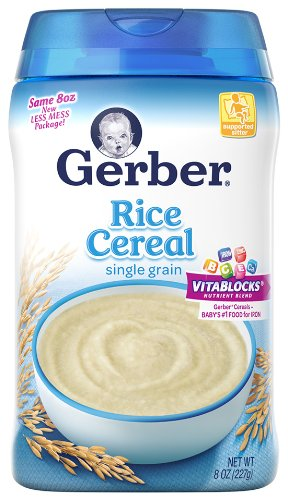 gerber rice cereal how to prepare