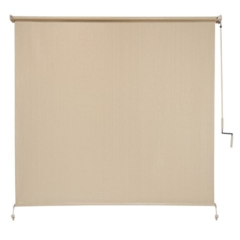 Coolaroo Exterior Cordless Roller Shade 8ft By 8ft Sesame