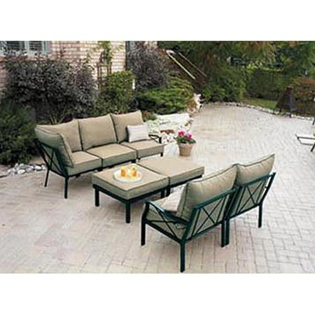 Sandhill 7 piece outdoor sofa sectional set seats 5 ebay for Sandhill outdoor 7 piece sofa sectional set