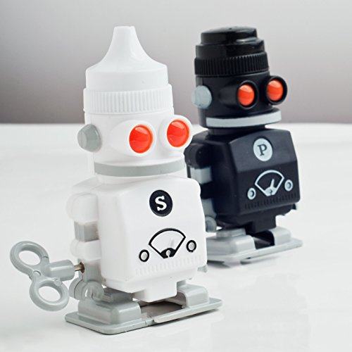 Suck uk salt and pepper robot shakers Salt and pepper robots