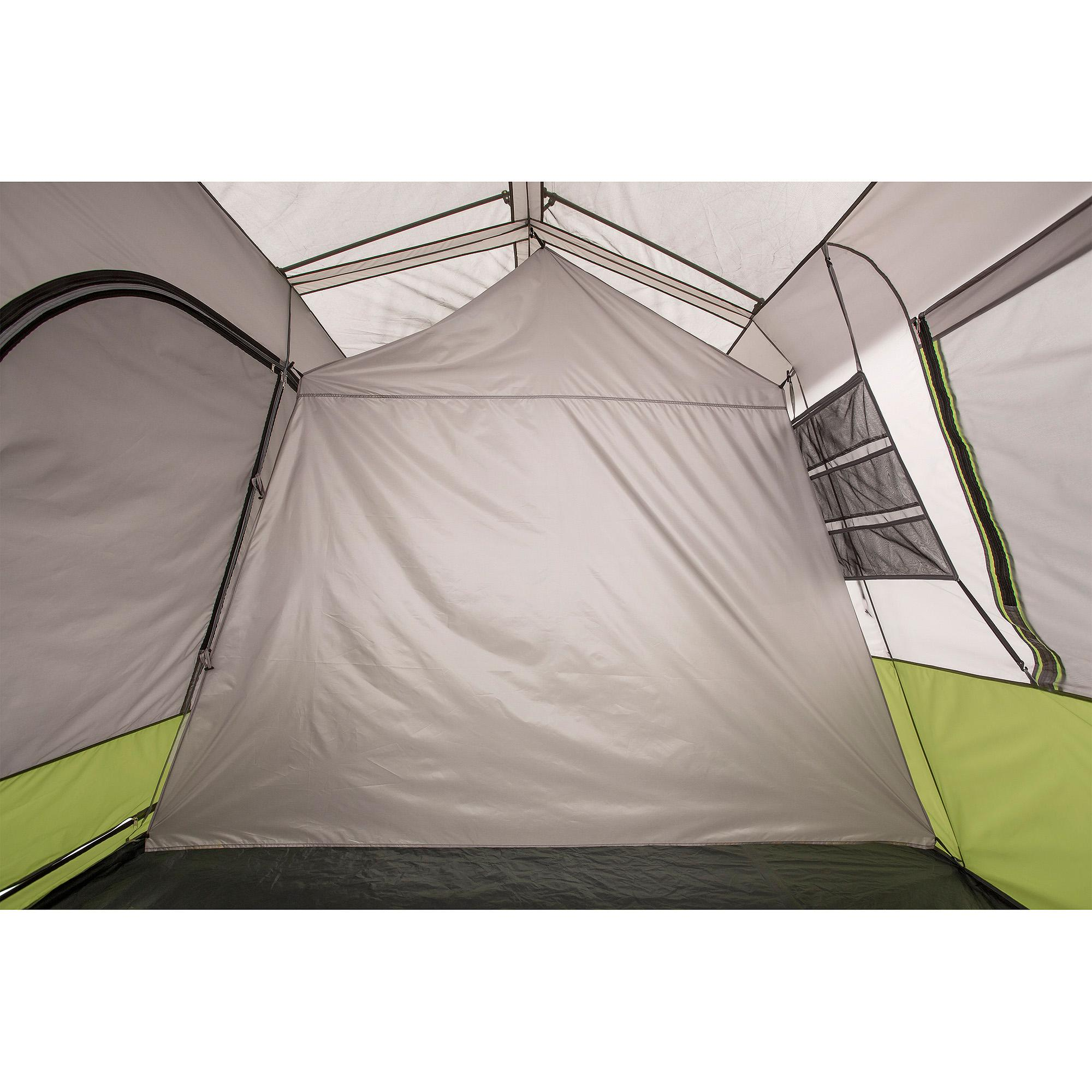 Ozark trail 9 person 2 room instant cabin tent with screen for What is a tent cabin