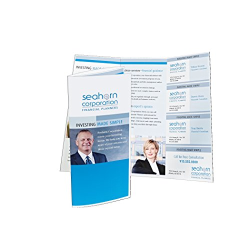 Avery tri fold brochure with tear away cards 50 for Avery brochure template