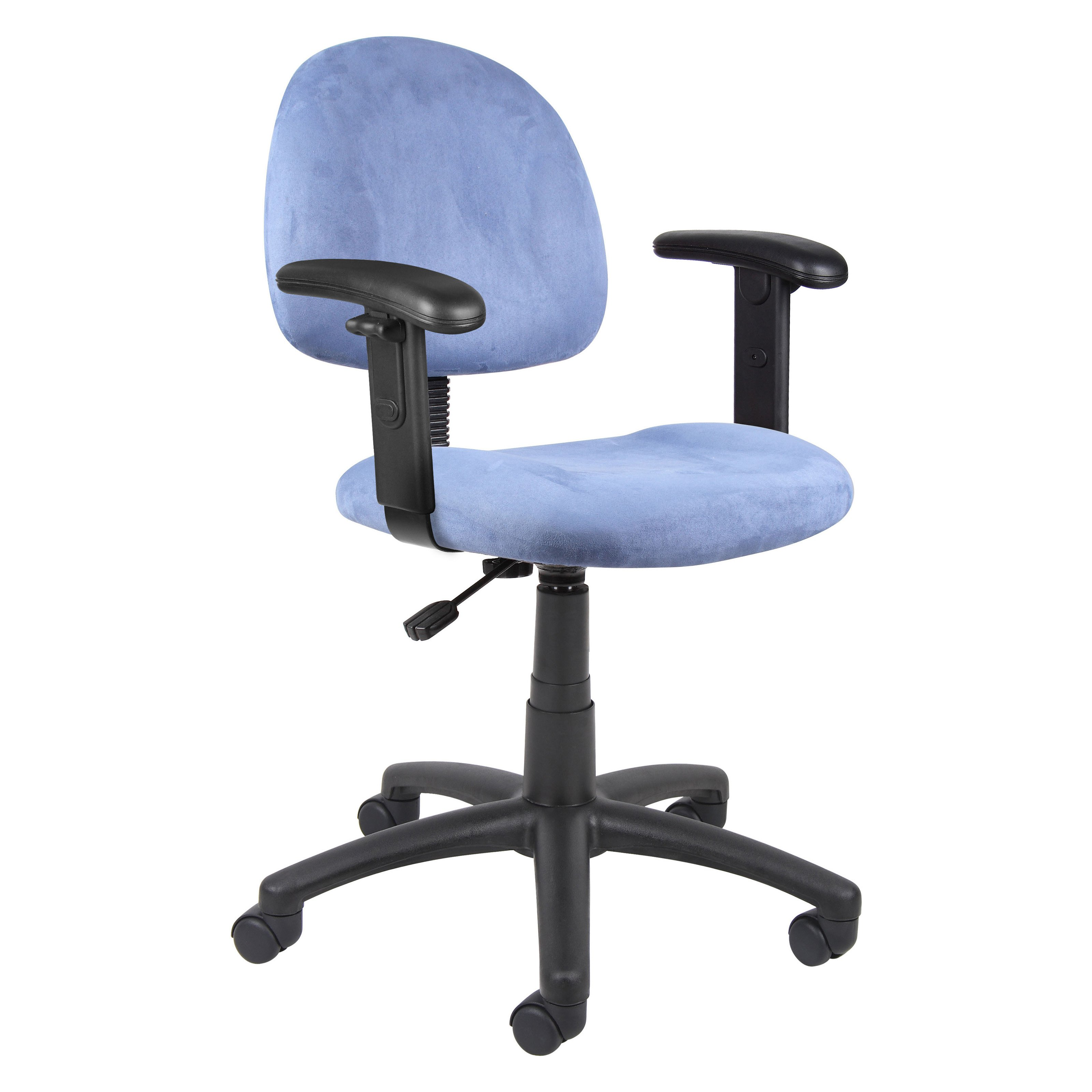 Office Chair With Adjustable Arms Boss Deluxe Desk Chair With Adjustable Arms Ebay