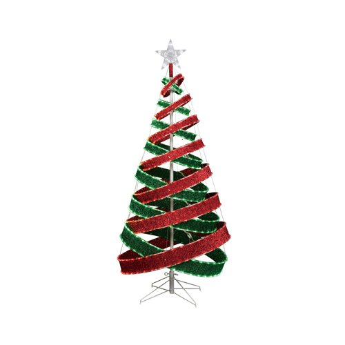 Neo neon international xmdr3dtree006945r g 6 feet led for Red ribbon around tree