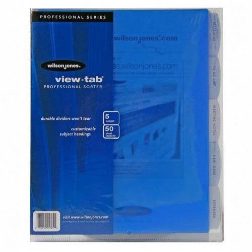 Wilson jones view tab sorter 8 5 x 11 inches clear w55765 for Templates wilson jones 8 tabs