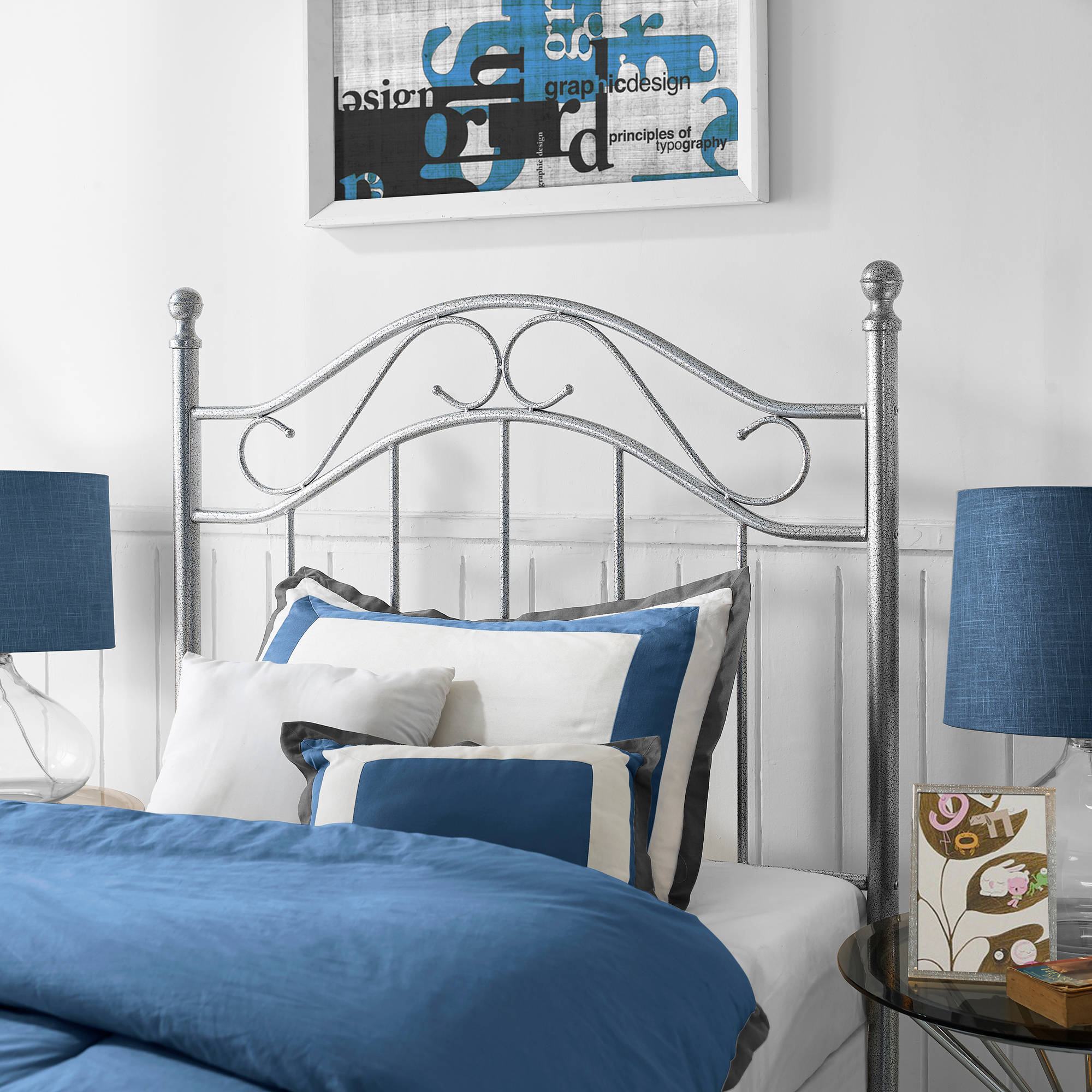 Canopy Twin Metal Bed Multiple Colors
