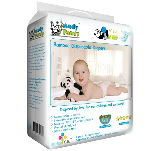 andy pandy size medium 13 22lbs premium bamboo disposable diaper. Black Bedroom Furniture Sets. Home Design Ideas
