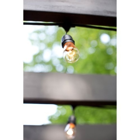 Outdoor String Lights With 15 E26 Sockets By Deneve : Outdoor String Lights with 15 E26 Sockets By Deneve - 48 Feet Lon