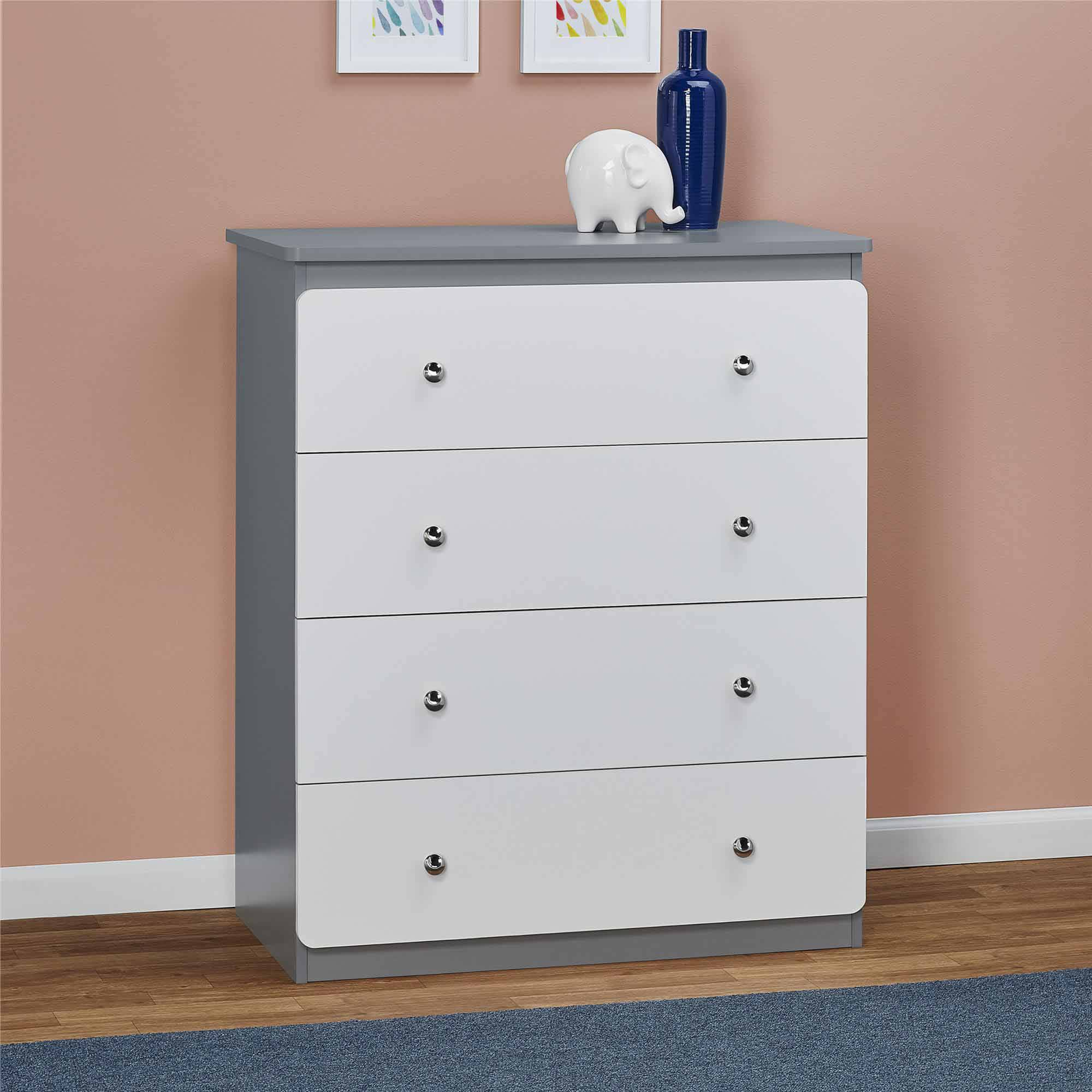 cosco willow lake 4 drawer dresser coffee house plank and white ebay. Black Bedroom Furniture Sets. Home Design Ideas