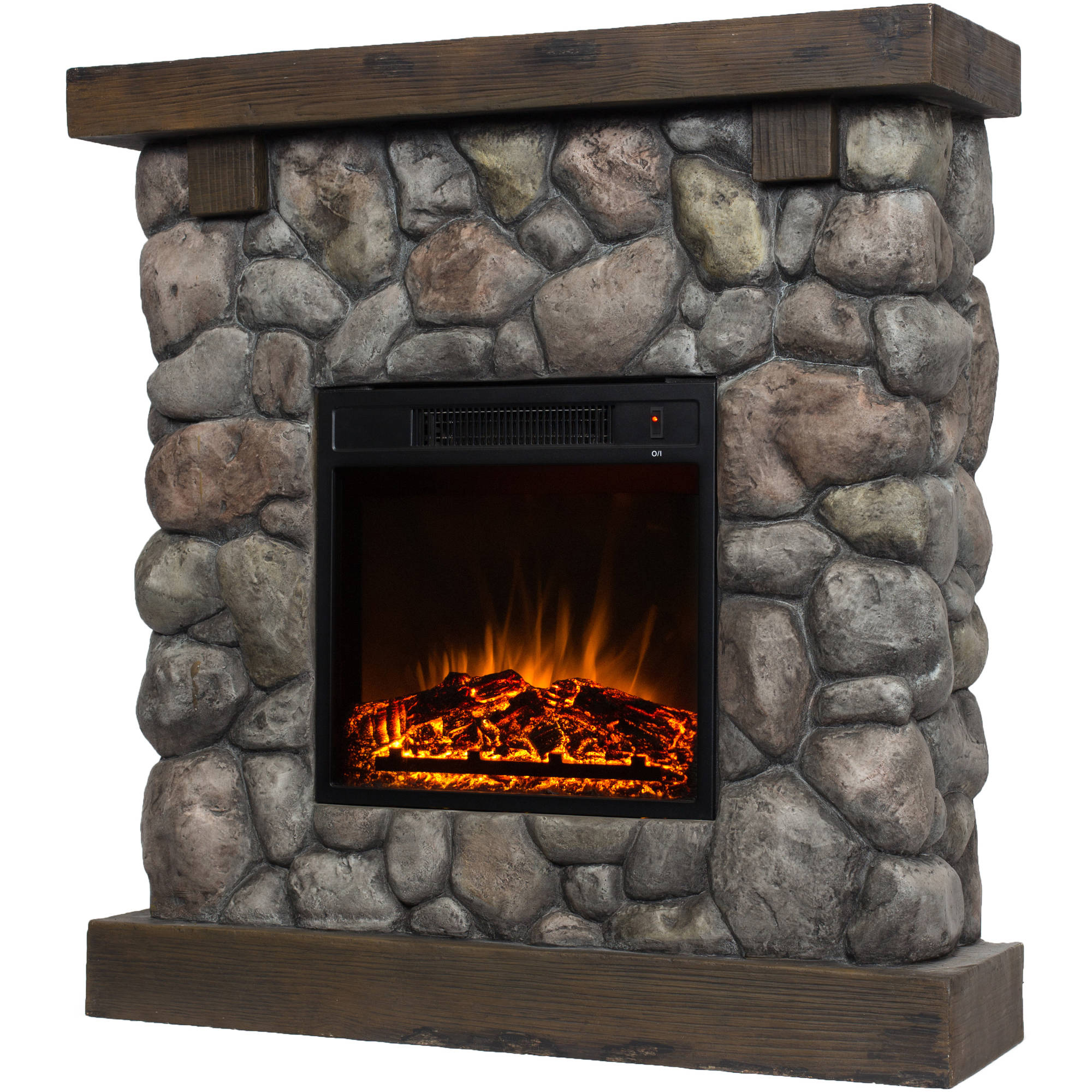 fireplace blanchard product free with mantle garden harper ivory shipping electric home blvd on