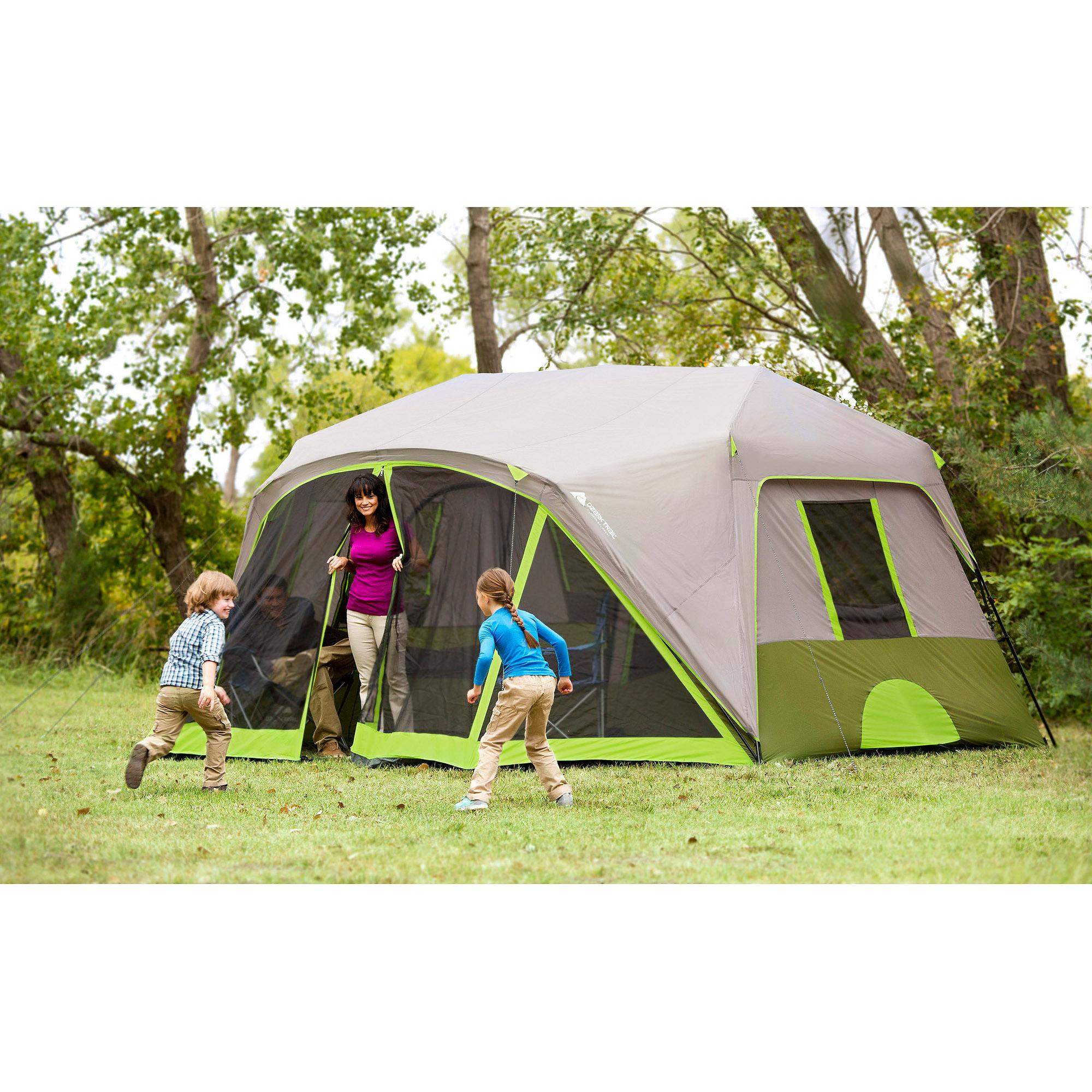 Ozark trail 9 person 2 room instant cabin tent with screen Tent a house