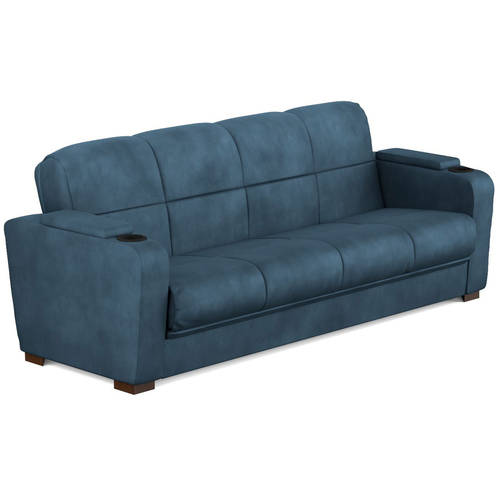 Mainstays Tyler Microfiber Storage Arm Futon Sofa Sleeper