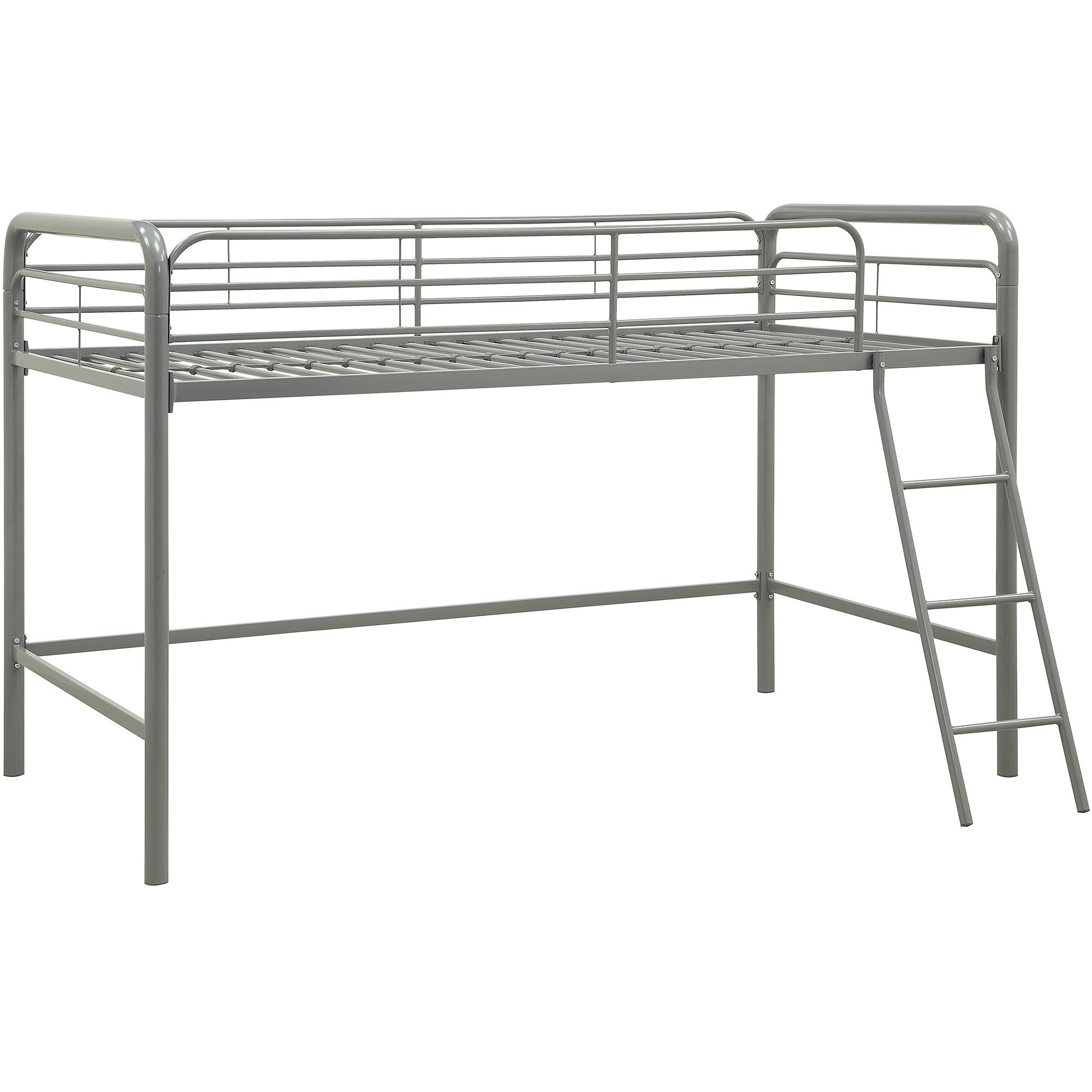 Junior Twin Metal Loft Bunk Bed Kids Toddler Childs