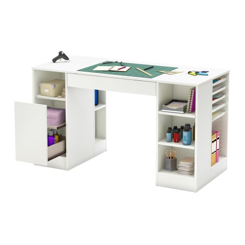 Superieur Image Is Loading South Shore Crea Collection Craft Table White