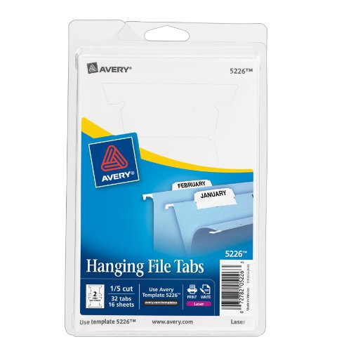 avery print or write hanging file tabs for laser printers 1 5 cu