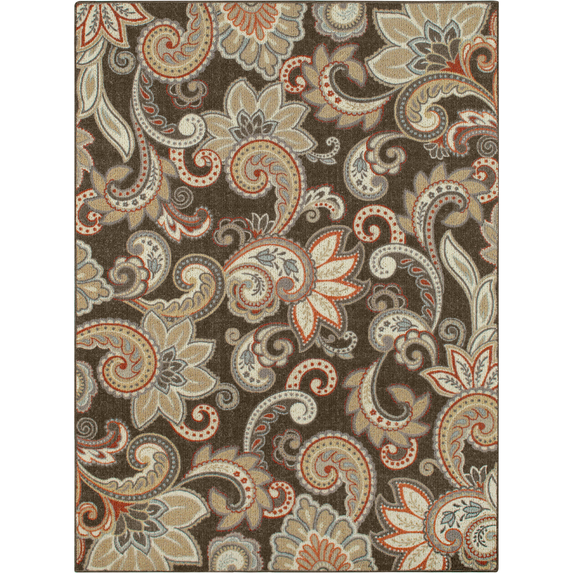 Better Homes and Gardens Paisley Berber Printed Area Rug or Runner ...