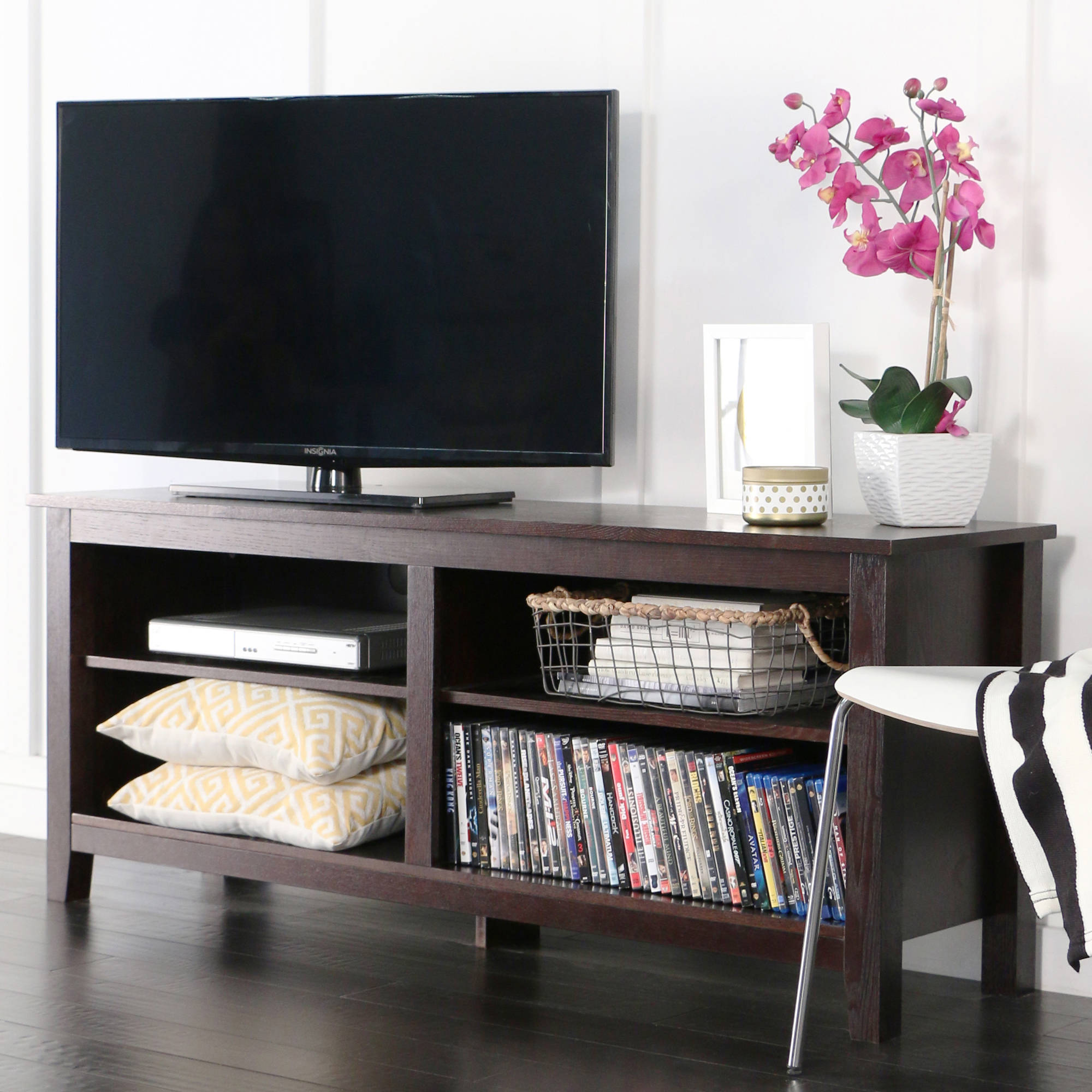 Rustic Wood TV Stand Drift Entertainment Center Media