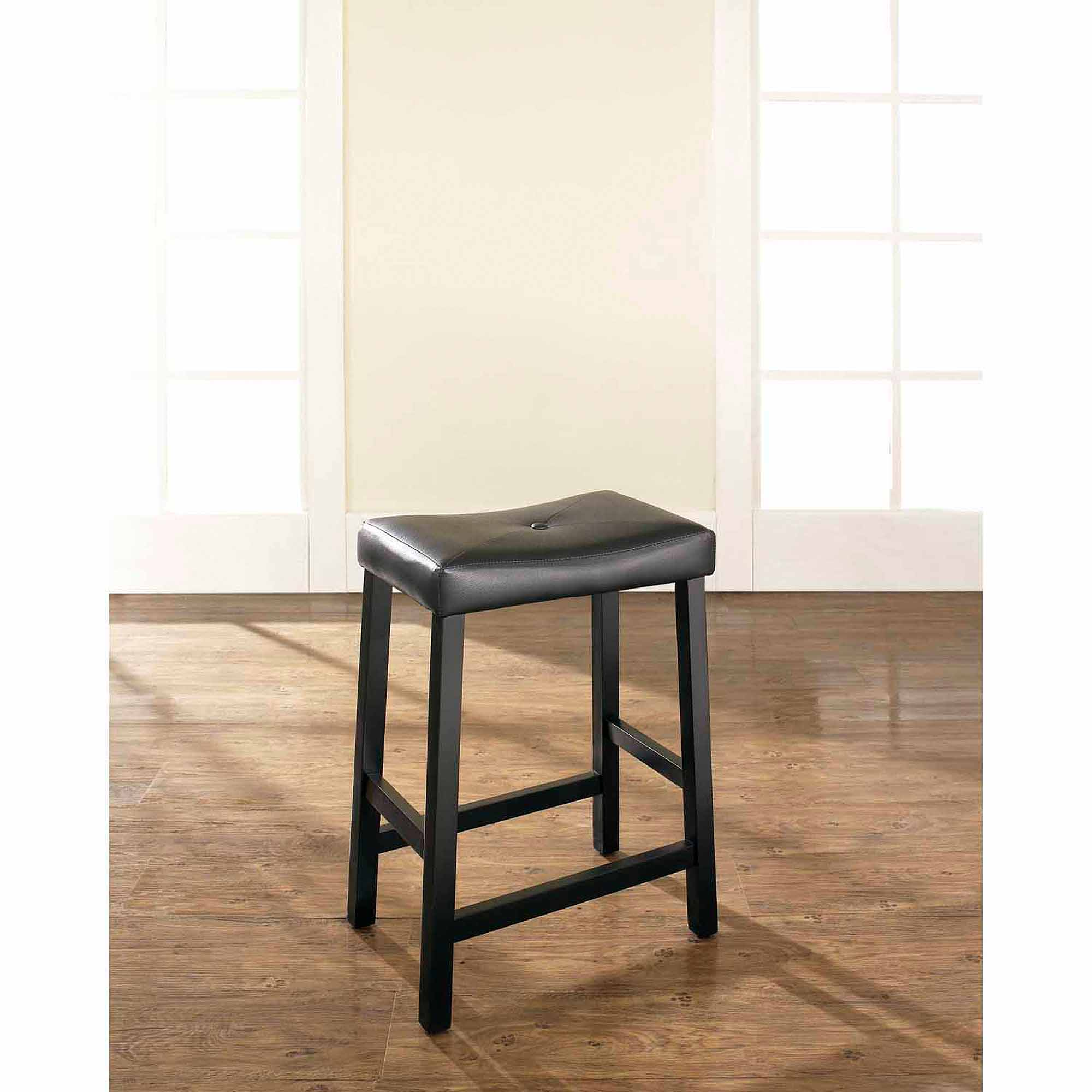 Image is loading crosley furniture upholstered saddle seat bar stool with