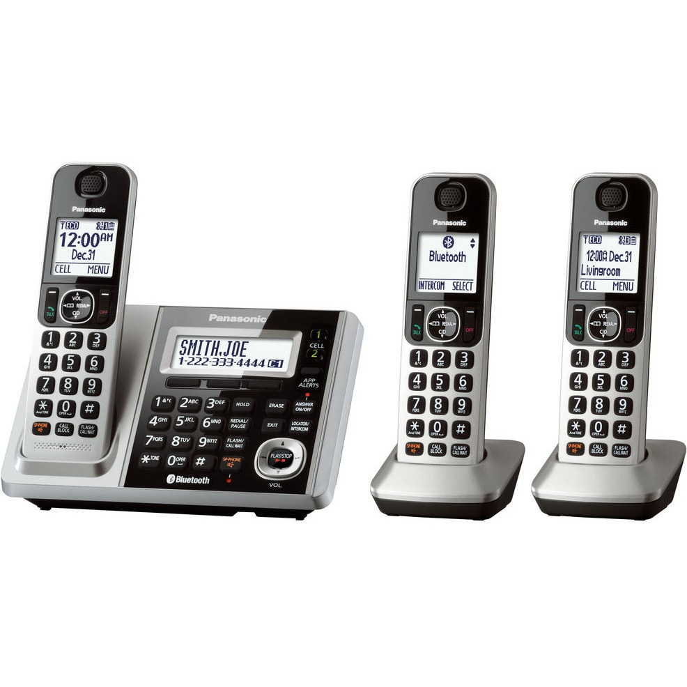 panasonic link2cell bluetooth cordless phone and answering. Black Bedroom Furniture Sets. Home Design Ideas