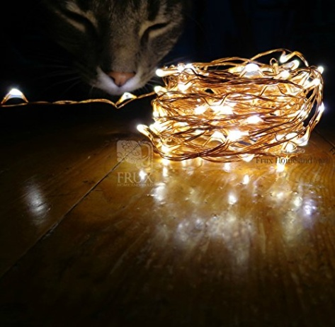 Fairy Star Lights Extra Long 39ft Warm White LED Copper Wire Indo
