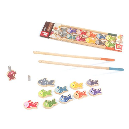 Let 39 s go fishing game magnetic fishing playset with 10 for Lets go fishing game