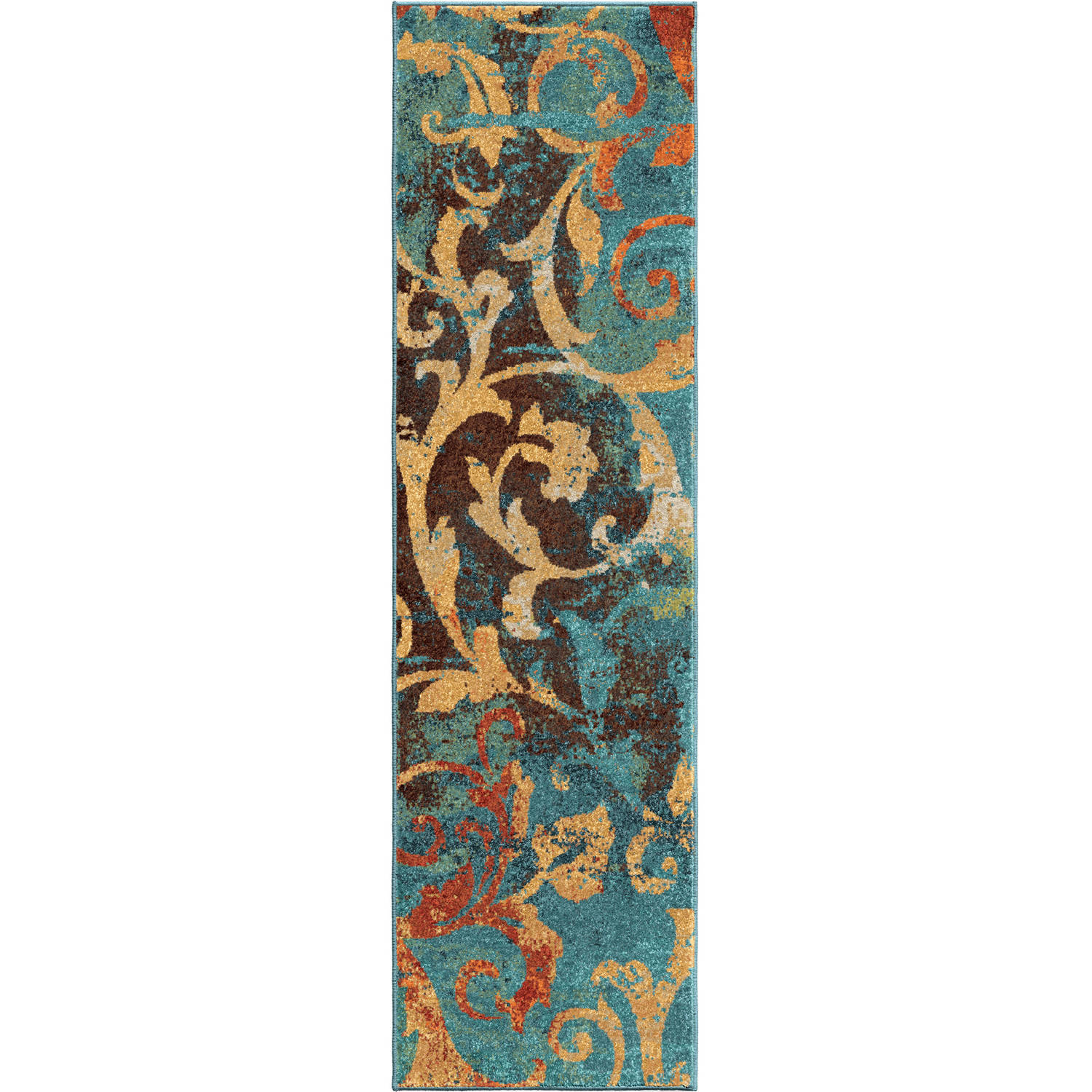 Orian Rugs Watercolor Scroll Multi Colored Area Rug
