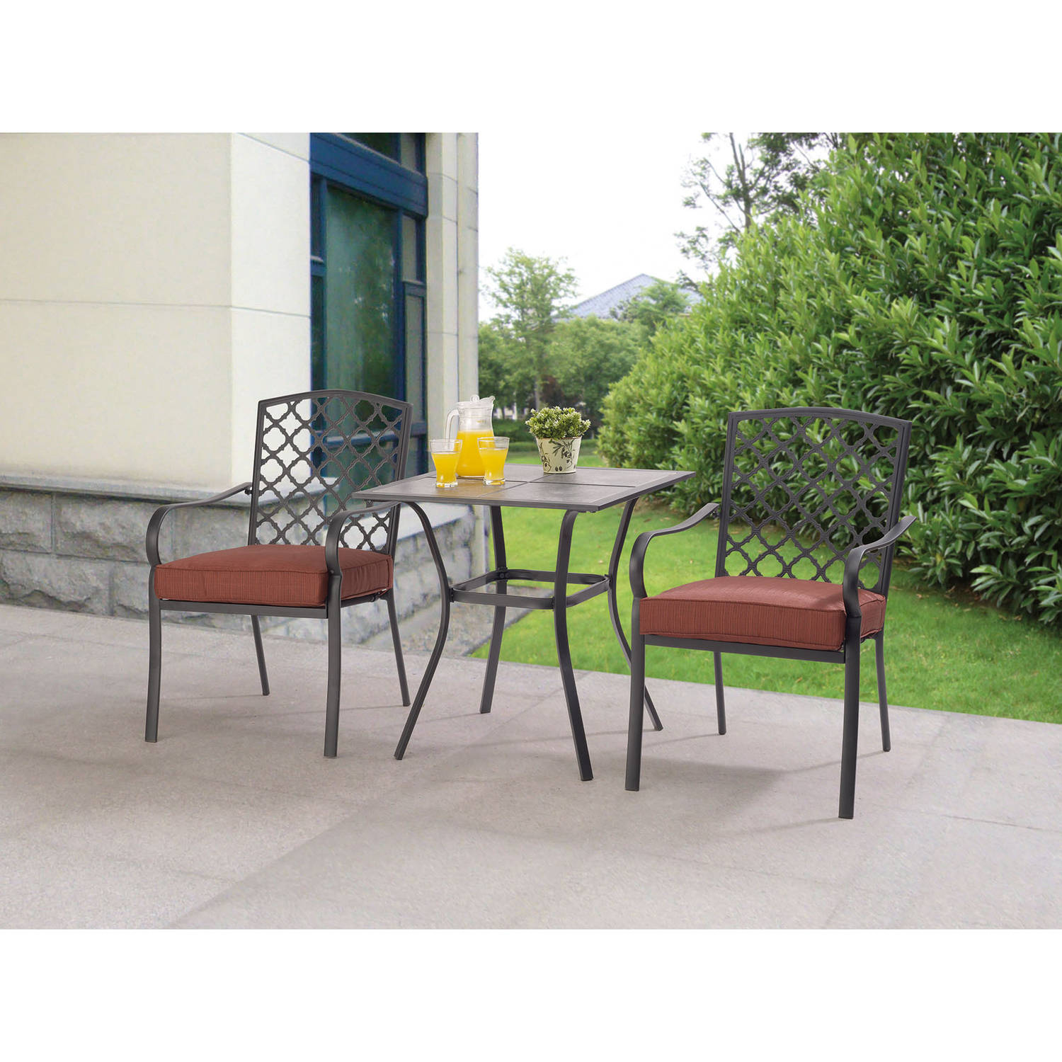mainstays grayson court 3 piece bistro set ebay. Black Bedroom Furniture Sets. Home Design Ideas