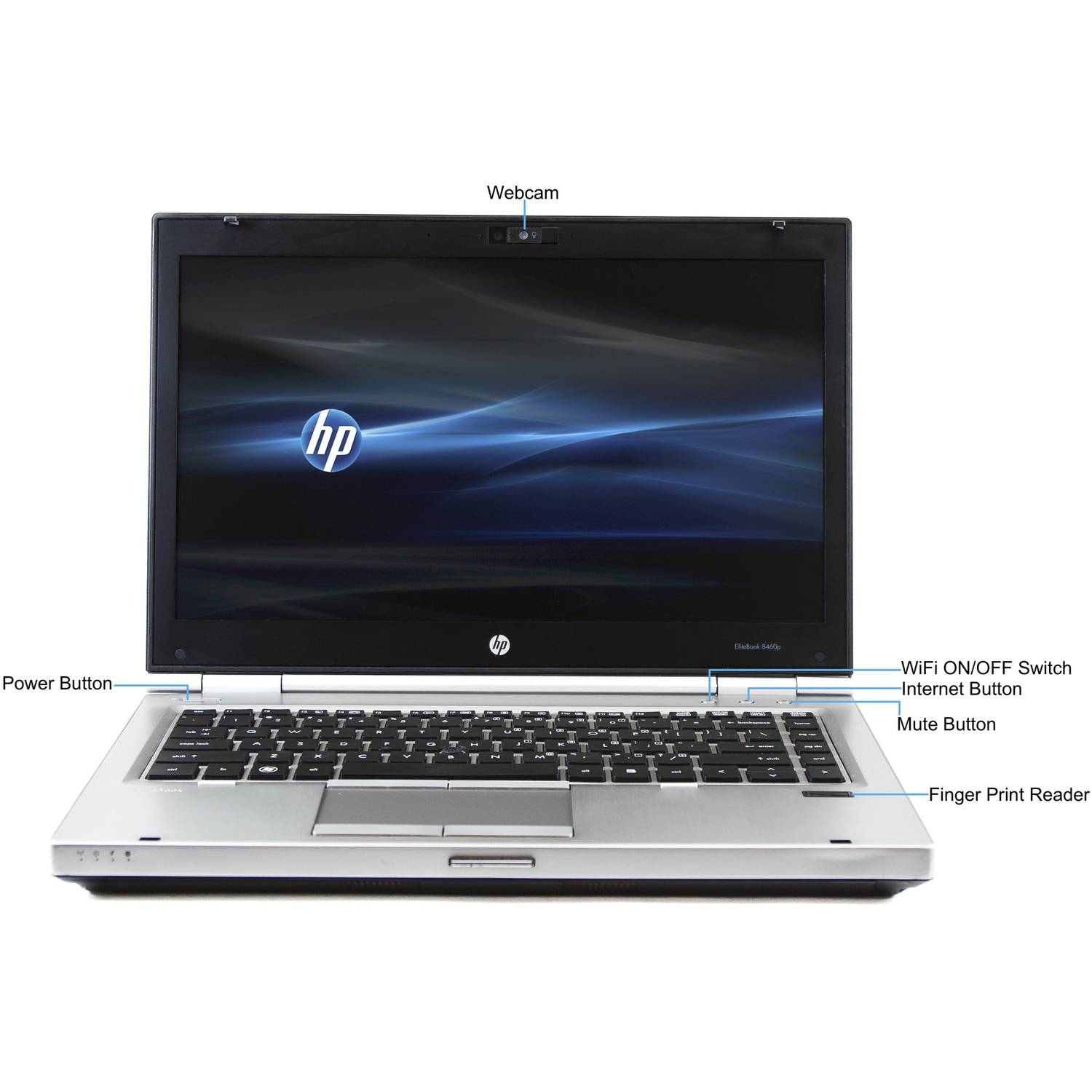 hp silver 14 elitebook 8460p laptop pc w intel core i5 processor 4gb 750gb ebay. Black Bedroom Furniture Sets. Home Design Ideas