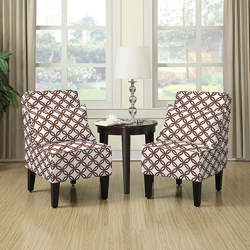 Image Is Loading Dani Armless Accent Chair Set Of 2 Honeycomb