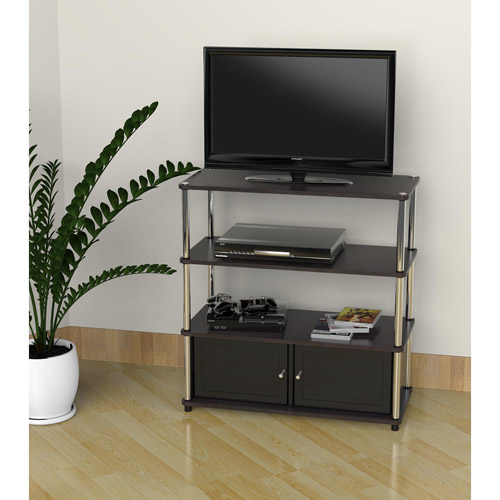 Designs 2 Go High Boy Tv Stand In Black For Tvs Up To 37 By