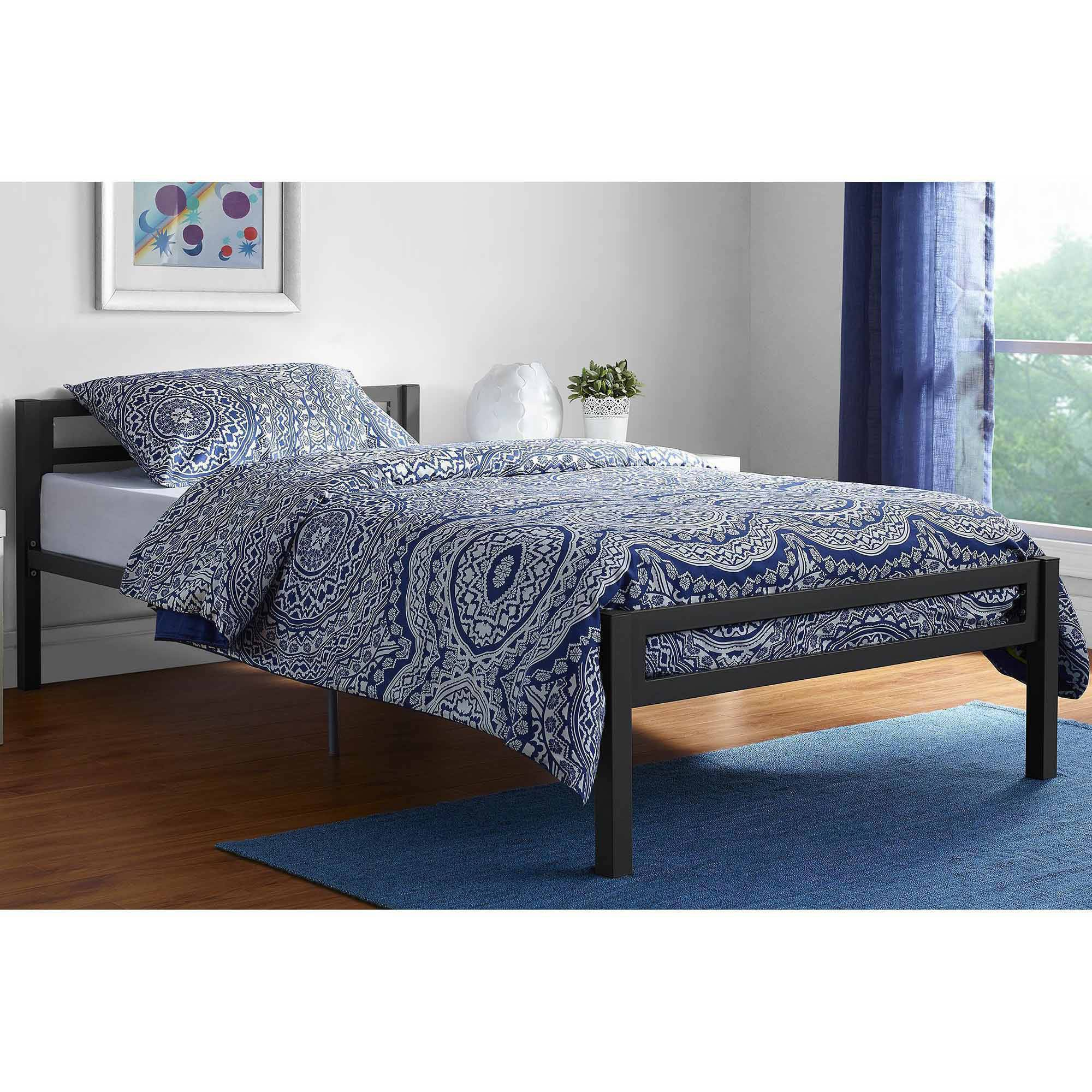 Image Is Loading Mainstays Premium Metal Twin Bed Multiple Colors