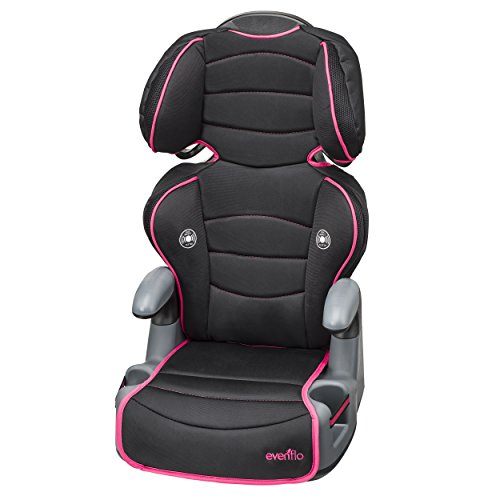 evenflo big kid high back booster car seat neon flamingo. Black Bedroom Furniture Sets. Home Design Ideas
