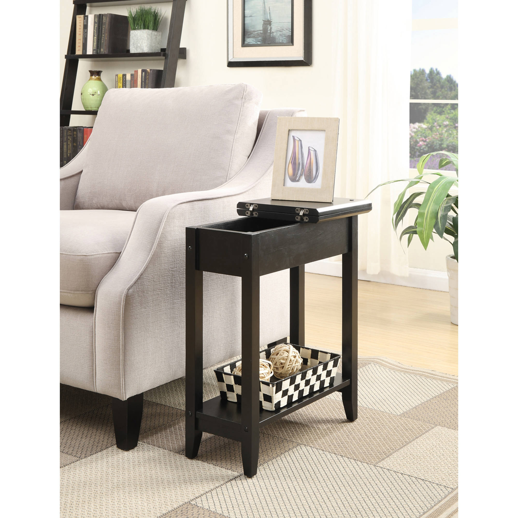 Flip top side table - Image Is Loading American Heritage Flip Top Tall Side Table Multiple