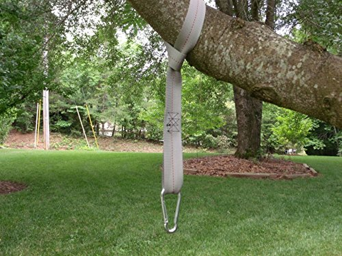 Forty eight inch tree swing hanging kit one 48 strap with sa Wood tree swing and hanging kit