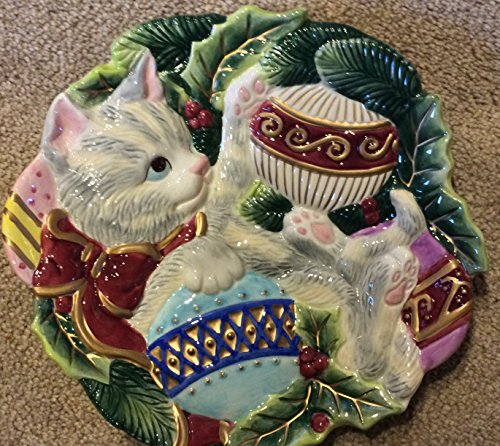 Fitz and floyd kristmas kitty canape plate for Fitz and floyd canape plate