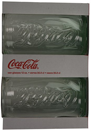Luminarc 12 ounce coca cola can shaped glass set of 4 - Verre coca cola luminarc ...