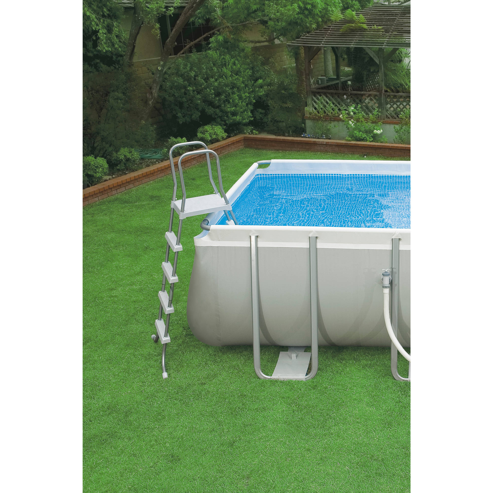Intex 32 39 x 16 39 x 52 ultra frame rectangular above ground for Square above ground pool
