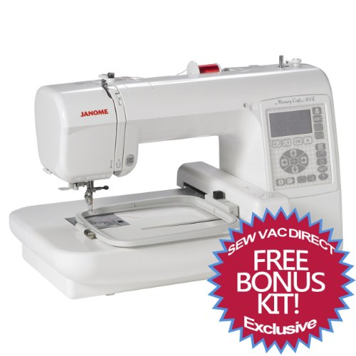 janome memory craft 200e embroidery machine with free. Black Bedroom Furniture Sets. Home Design Ideas