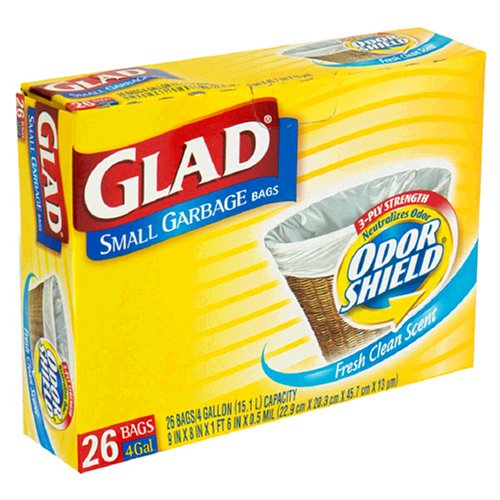 Small Garbage Bags : Glad small garbage bags with odor shield gallon