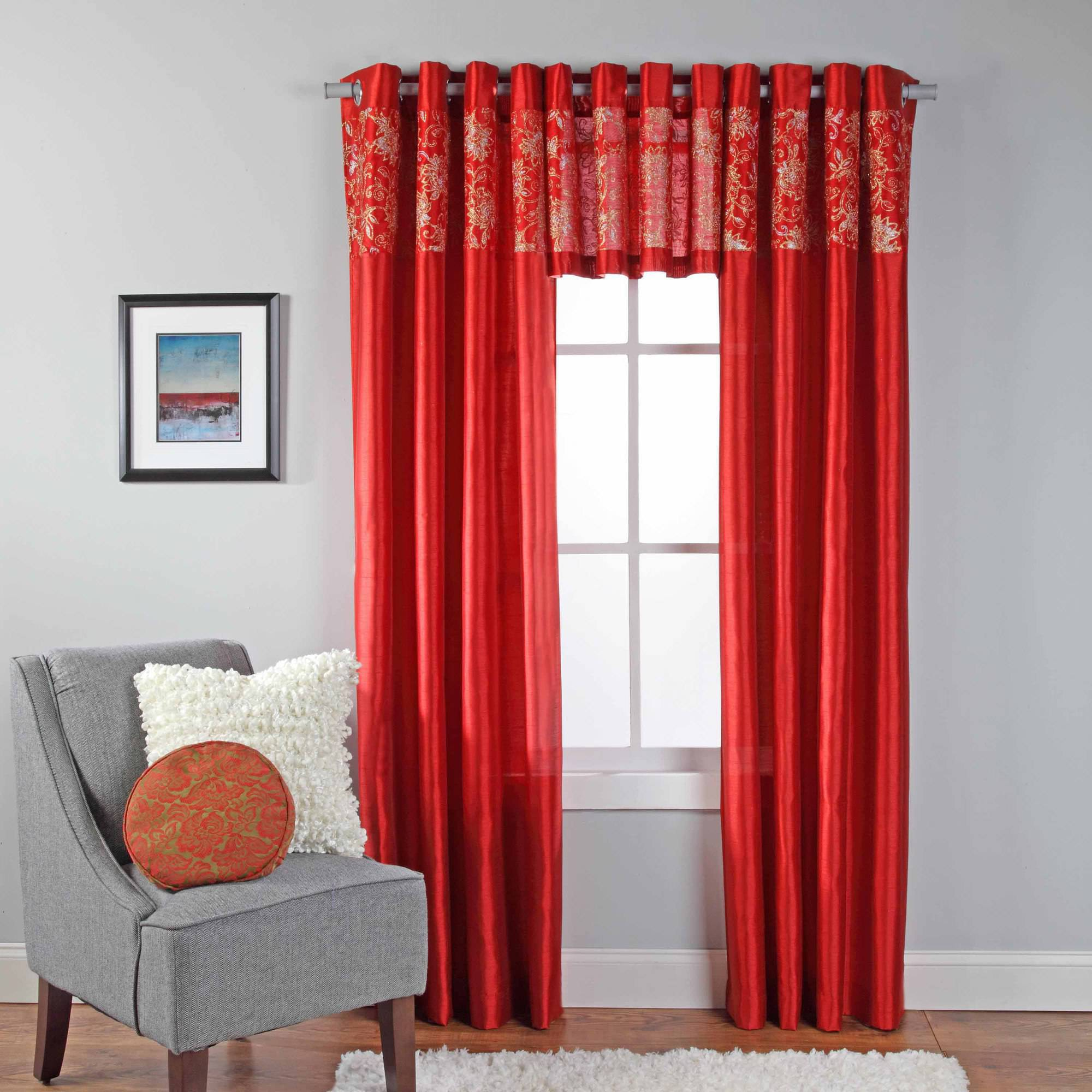 curtain curtains tier sidney grommet valance white marburn products