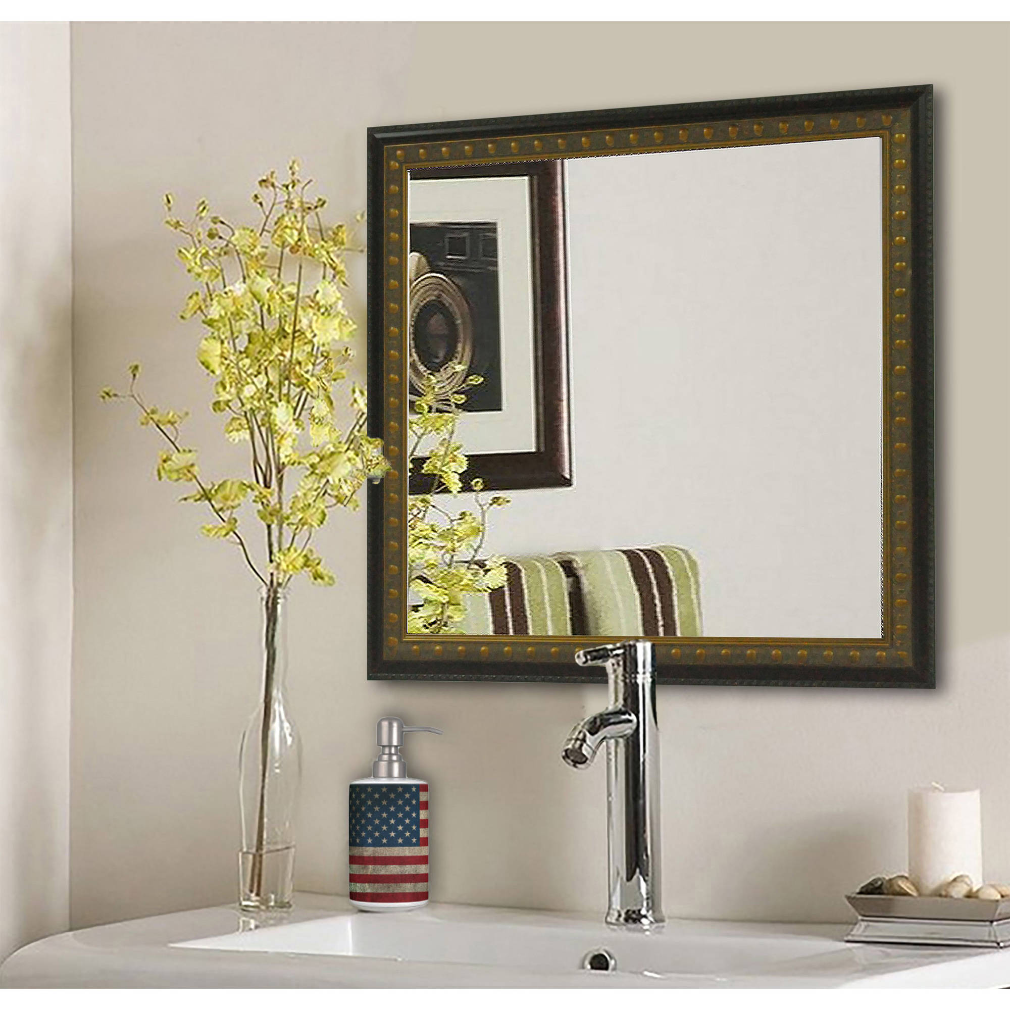 Bathroom Mirrors Ebay rayne mirrors american made rayne traditional cameo bronze vanity