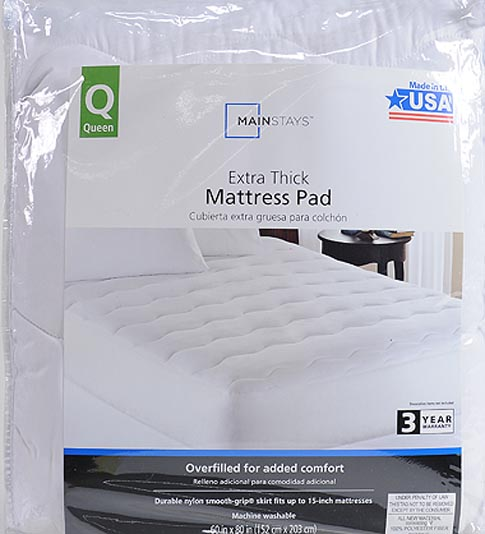 Mainstays Extra Thick 1 Quot Mattress Pad White Ebay