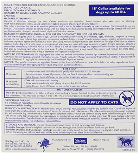 Virbac Preventic Tick Dog Collar  Inch  Pack