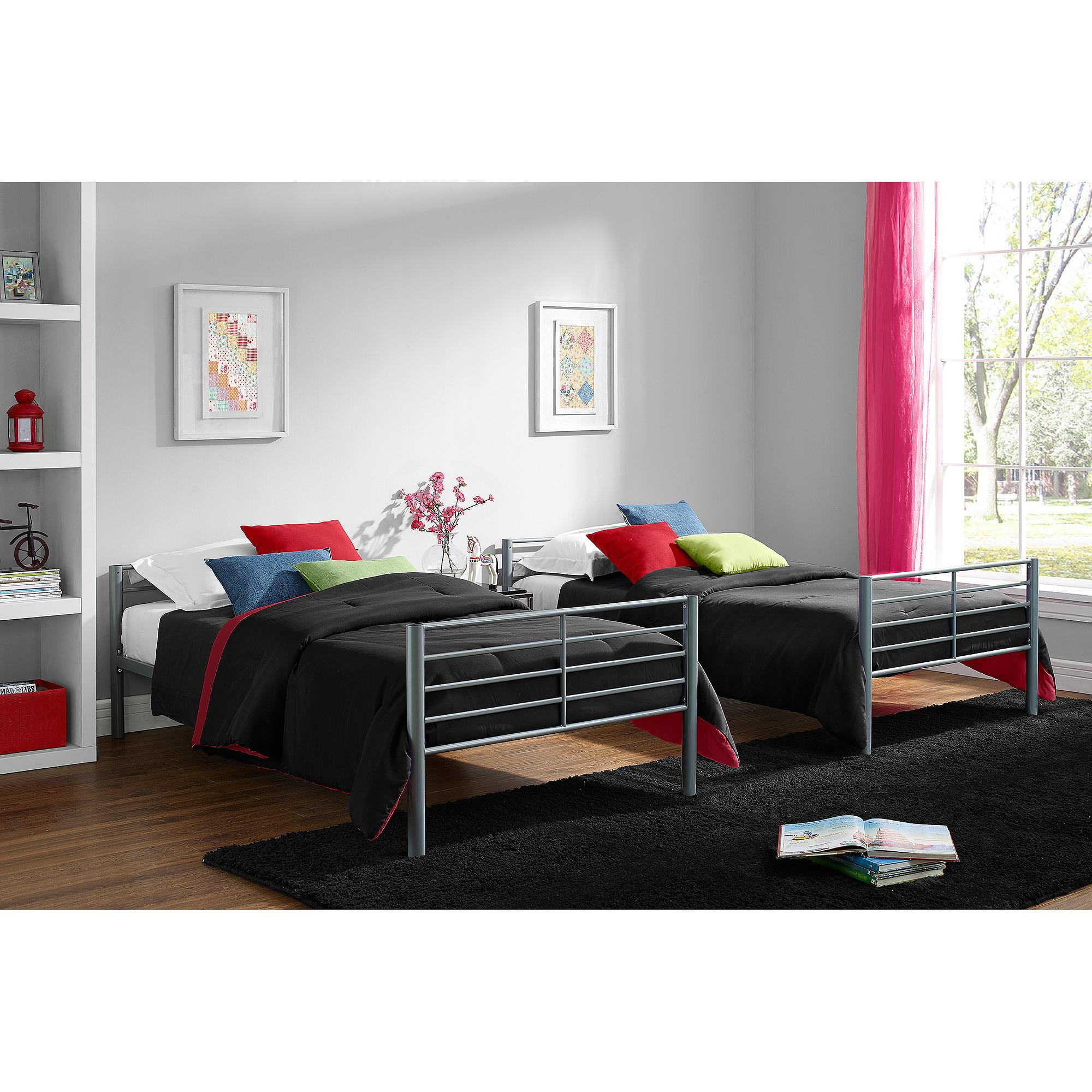 Mainstays Twin Over Twin Convertible Bunk Bed Multiple