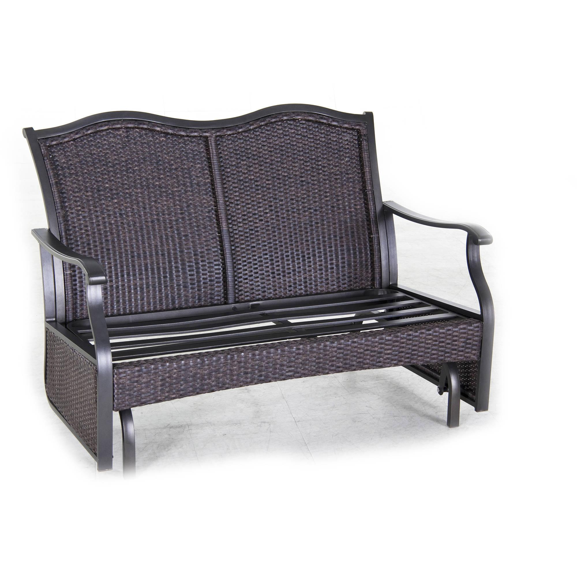 Better Homes And Gardens Providence Outdoor Glider Bench Green Seats 2 Ebay