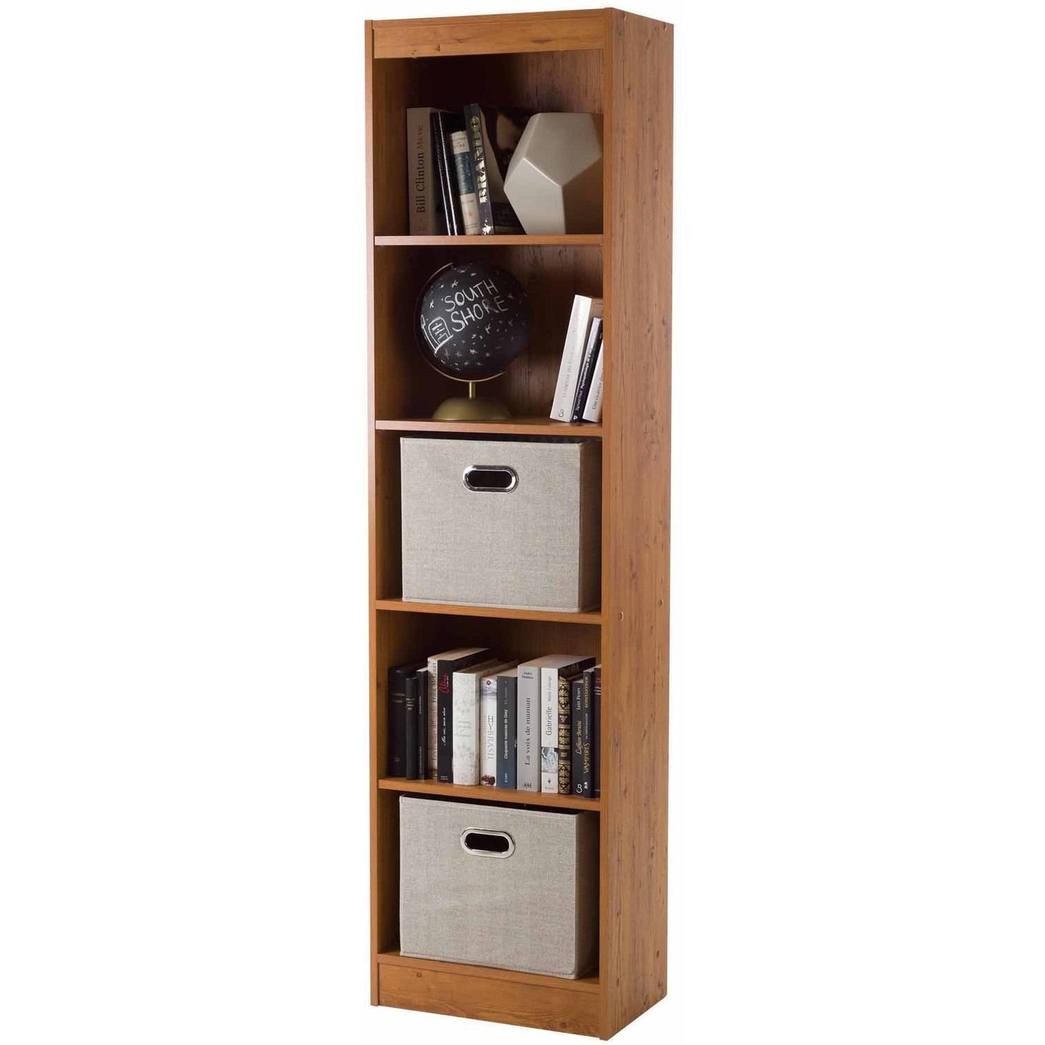 Charming South Shore Smart Basics 5 Shelf Narrow Bookcase