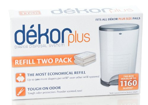 Diaper dekor plus refill 2 count for Dekor plus refills